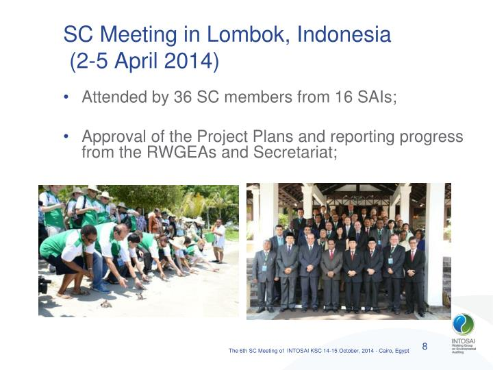 SC Meeting in Lombok, Indonesia