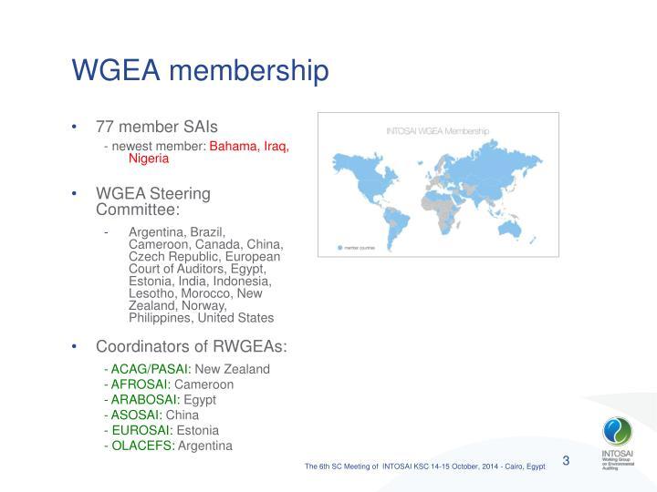WGEA membership