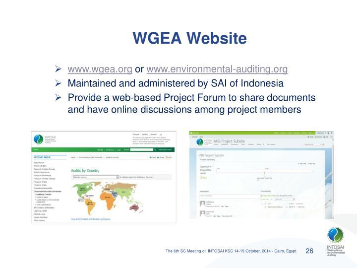 WGEA Website