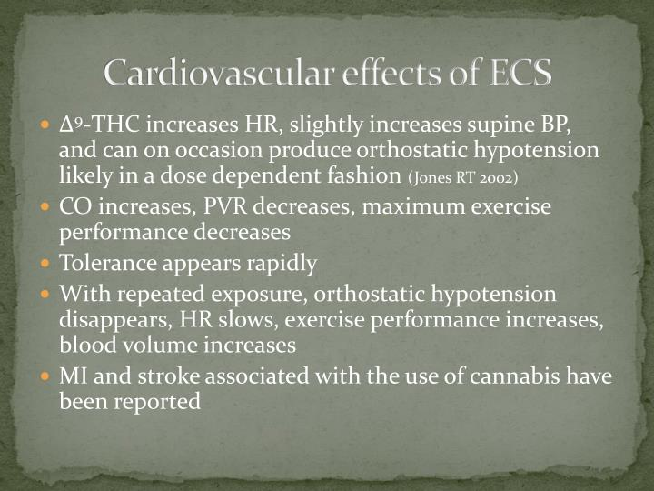 Cardiovascular effects of ECS