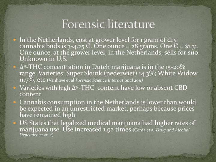 Forensic literature