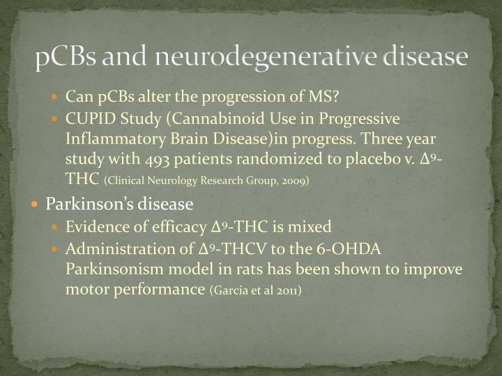 pCBs and neurodegenerative disease