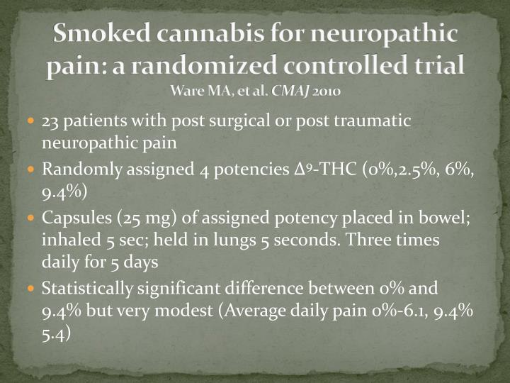 Smoked cannabis for neuropathic pain: a randomized controlled trial