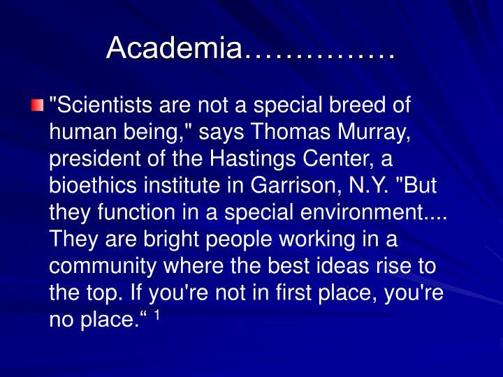 Academia……………