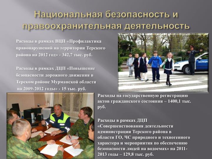 Национальная безопасность и правоохранительная деятельность
