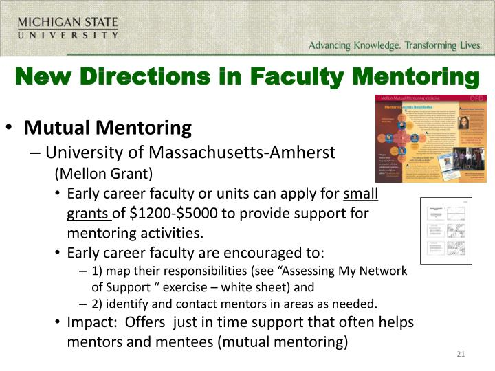 New Directions in Faculty Mentoring