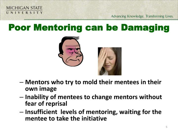 Poor Mentoring can be Damaging