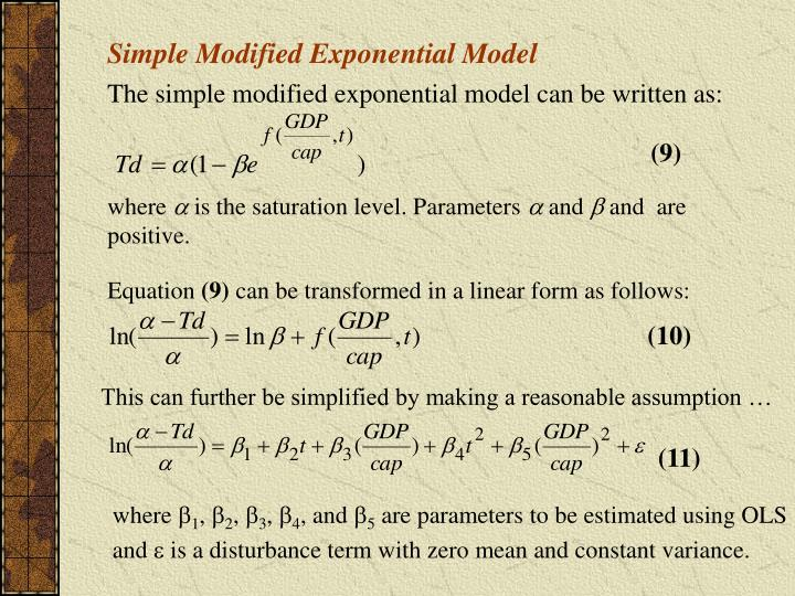 Simple Modified Exponential Model