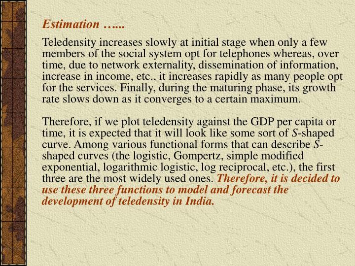 Estimation …...