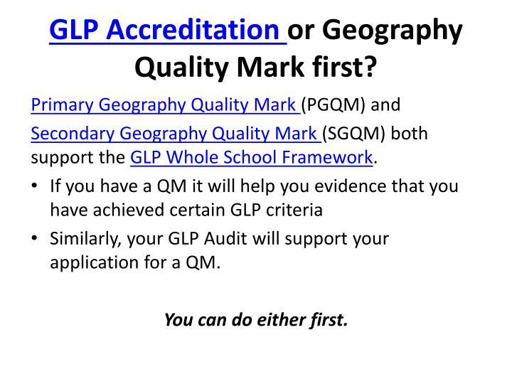 GLP Accreditation