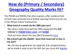 how do primary secondary geography quality marks fit