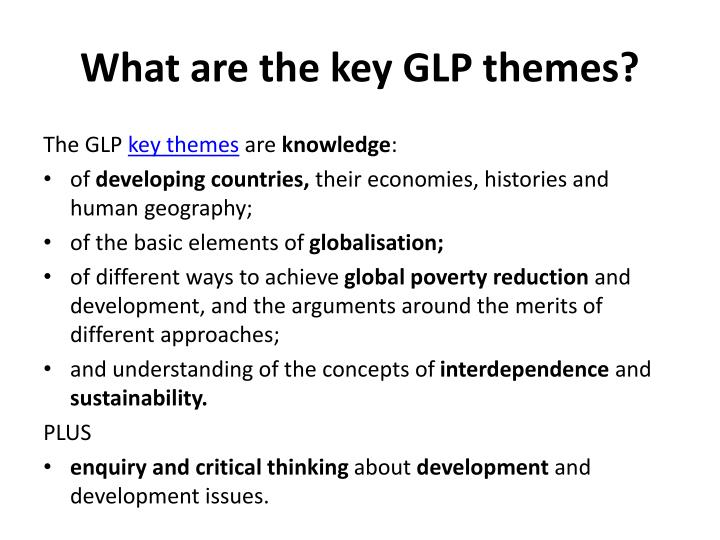What are the key glp themes