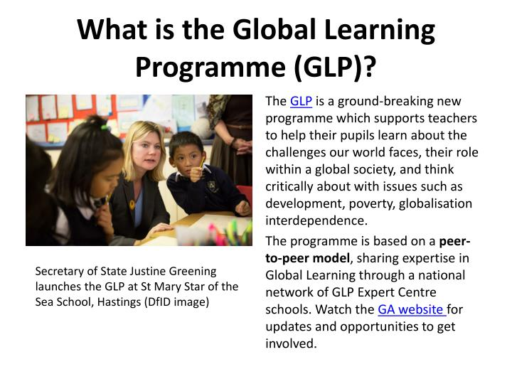 What is the Global Learning Programme (GLP)?