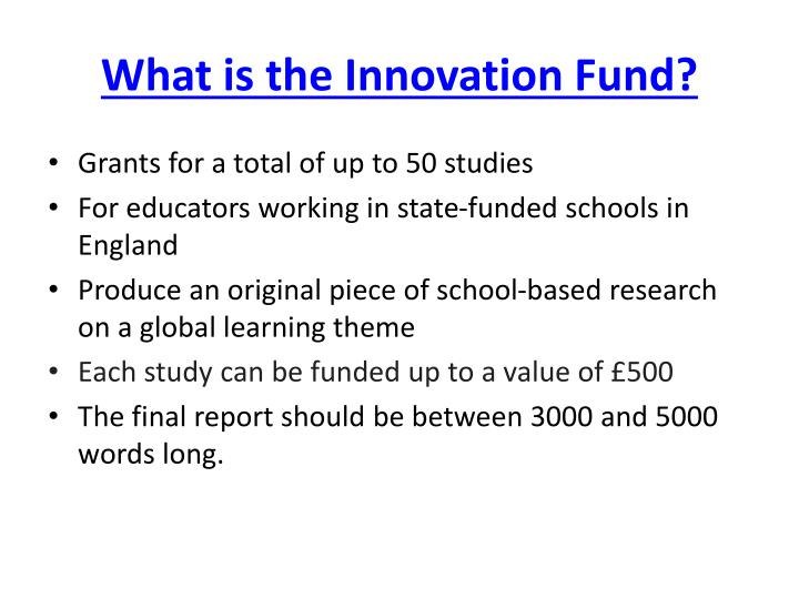 What is the Innovation Fund?