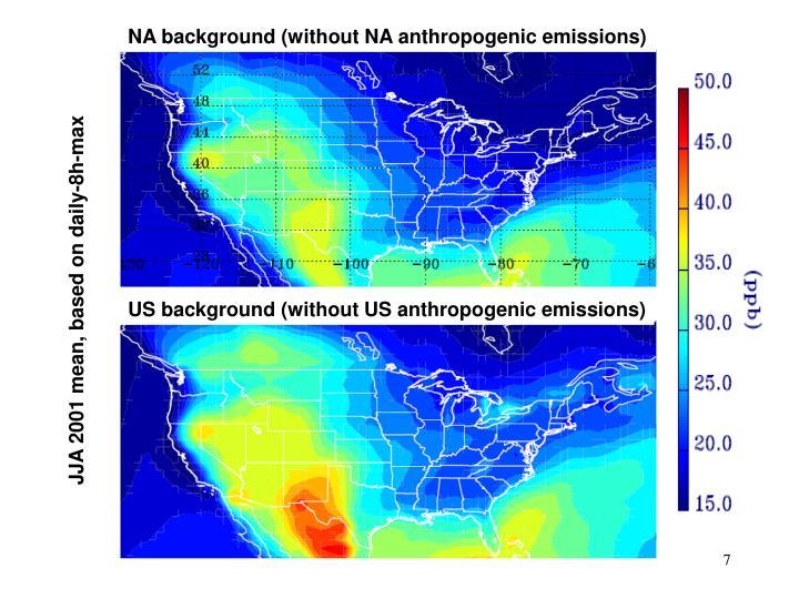 NA background (without NA anthropogenic emissions)