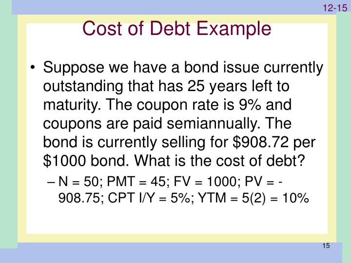 Cost of Debt Example