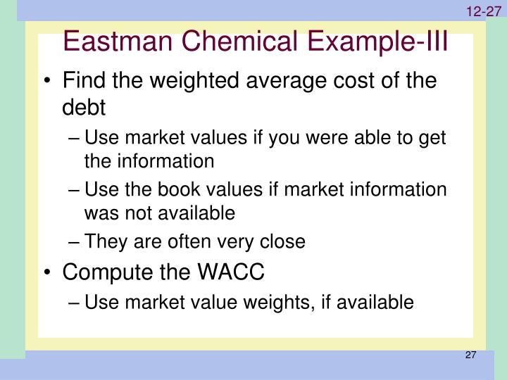 Eastman Chemical Example-III