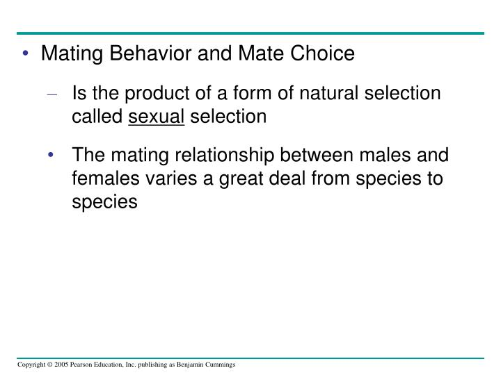 Mating Behavior and Mate Choice