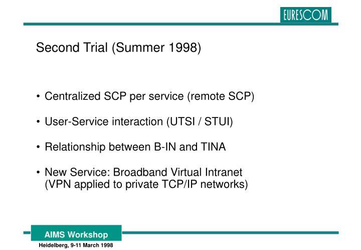 Centralized SCP per service (remote SCP)