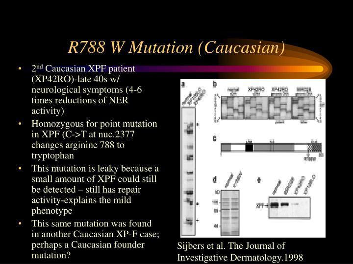 R788 W Mutation (Caucasian)
