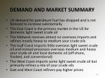 demand and market summary