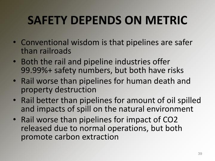 SAFETY DEPENDS ON METRIC