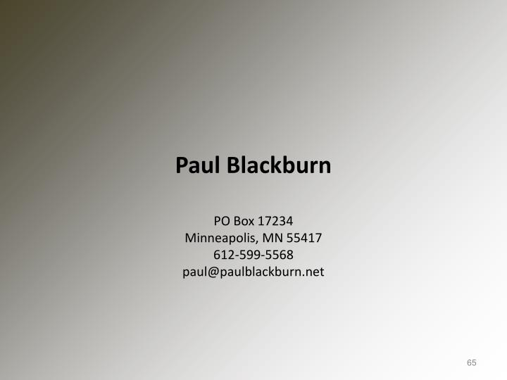 Paul Blackburn