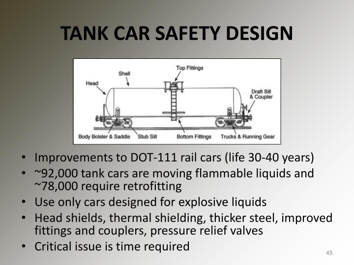 TANK CAR SAFETY DESIGN