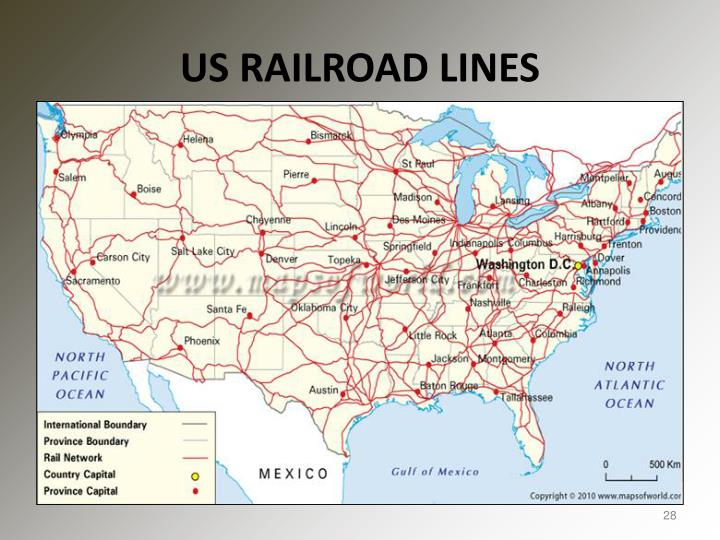 US RAILROAD LINES