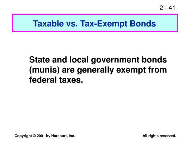 Taxable vs. Tax-Exempt Bonds