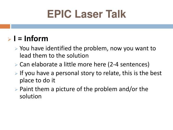 EPIC Laser Talk