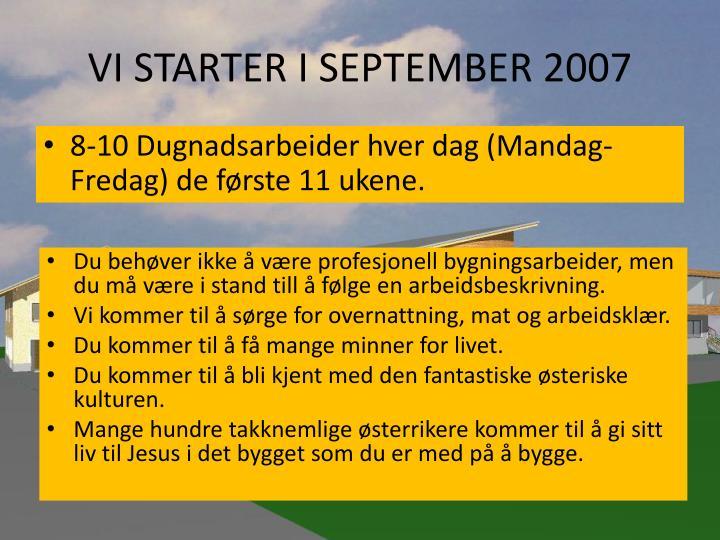 VI STARTER I SEPTEMBER 2007