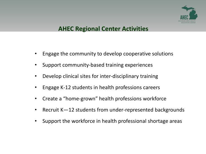 AHEC Regional Center Activities