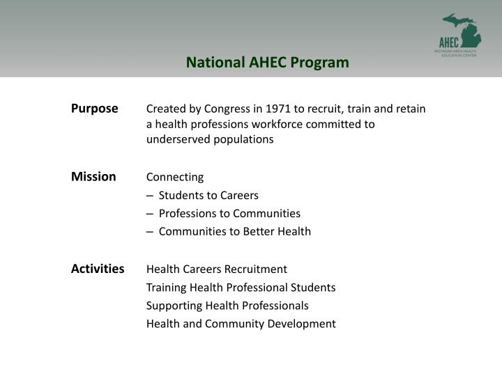 National AHEC Program