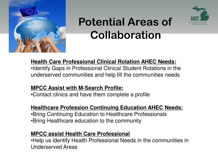 Potential Areas of Collaboration
