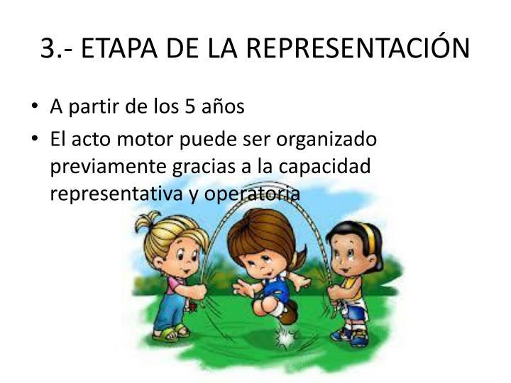 3.- ETAPA DE LA REPRESENTACIÓN