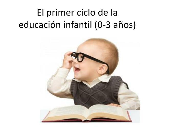 El primer ciclo de la educación infantil (0-3 años)