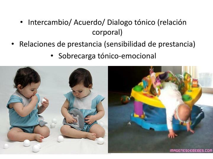 Intercambio/ Acuerdo/ Dialogo tónico (relación corporal)