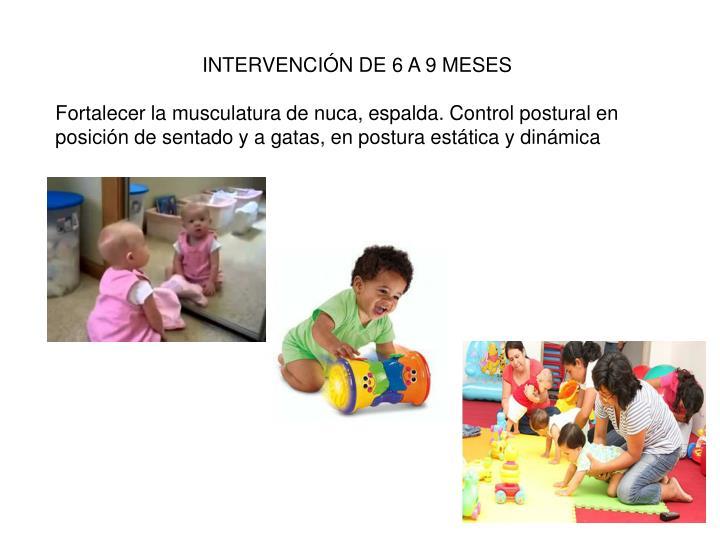INTERVENCIÓN DE 6 A 9 MESES