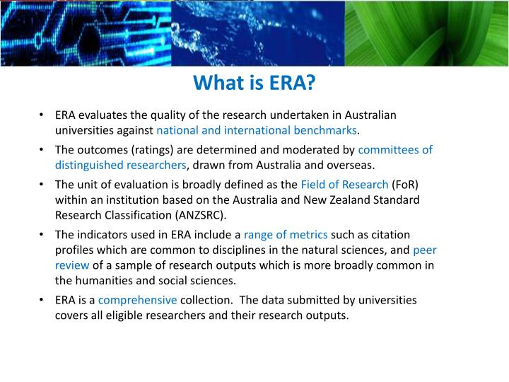 What is ERA?