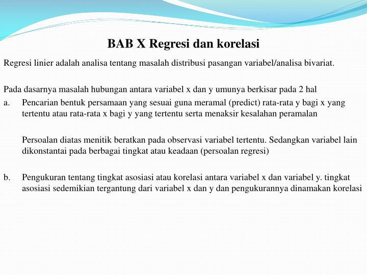 BAB X
