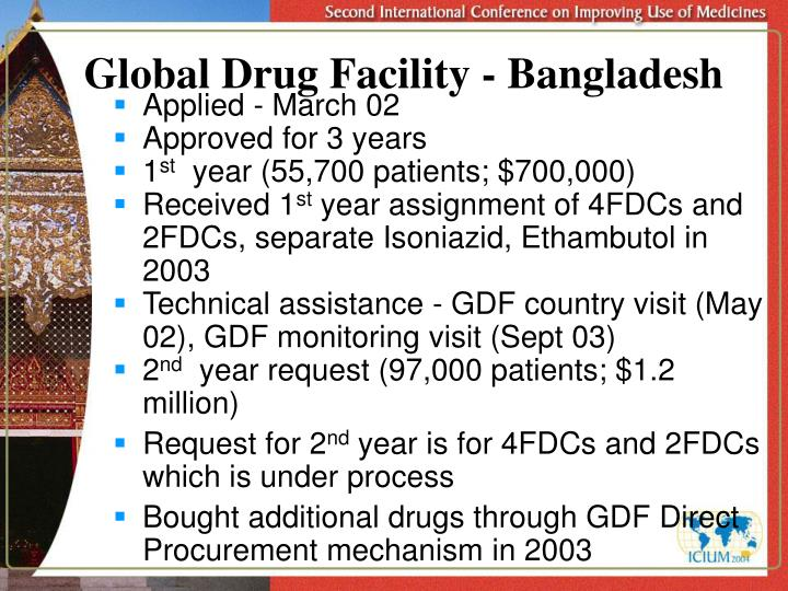Global Drug Facility - Bangladesh