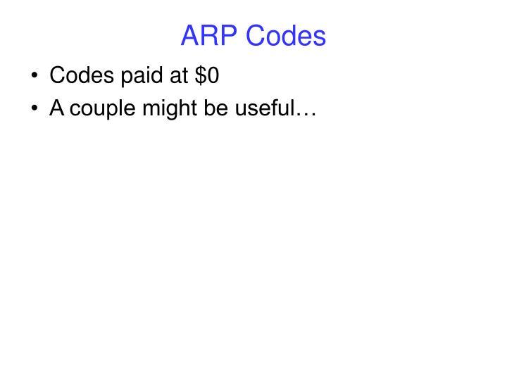 ARP Codes