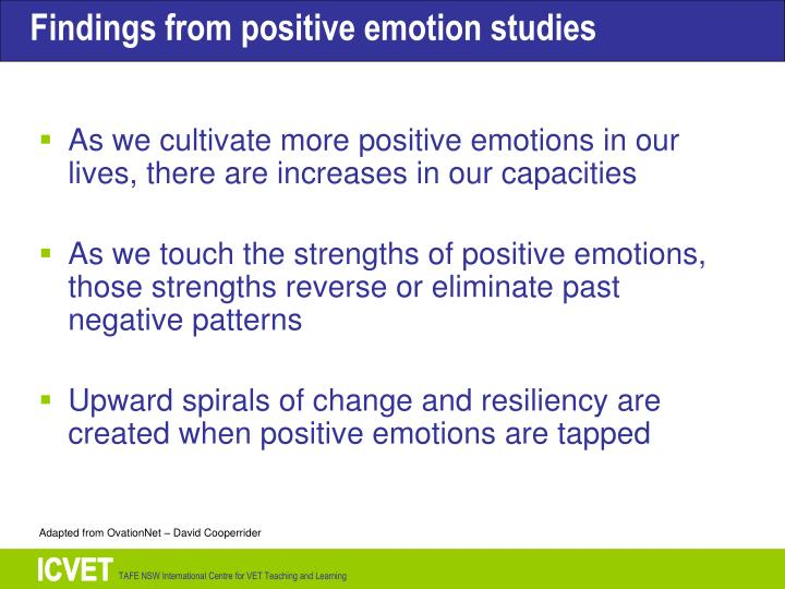 As we cultivate more positive emotions in our lives, there are increases in our capacities
