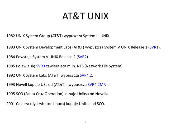 AT&T UNIX