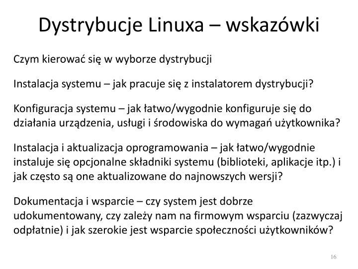 Dystrybucje Linuxa – wskazówki