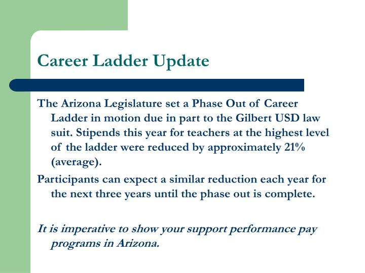 Career Ladder Update
