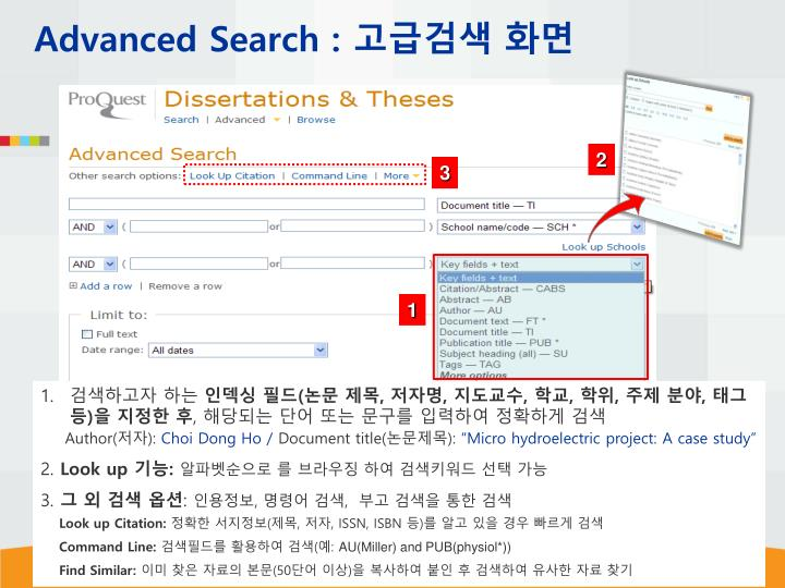Advanced Search :