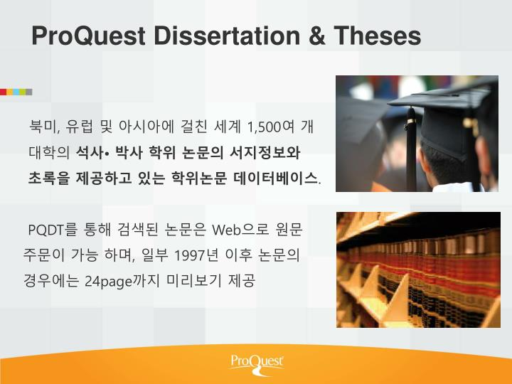 ProQuest Dissertation & Theses