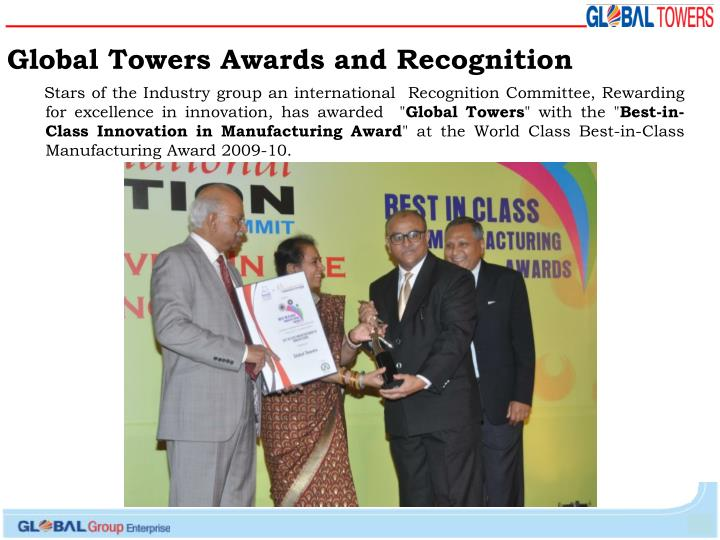 Global Towers Awards and Recognition